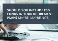 Are ESG Funds a Good Fit for Your Plan's Investment Menu?